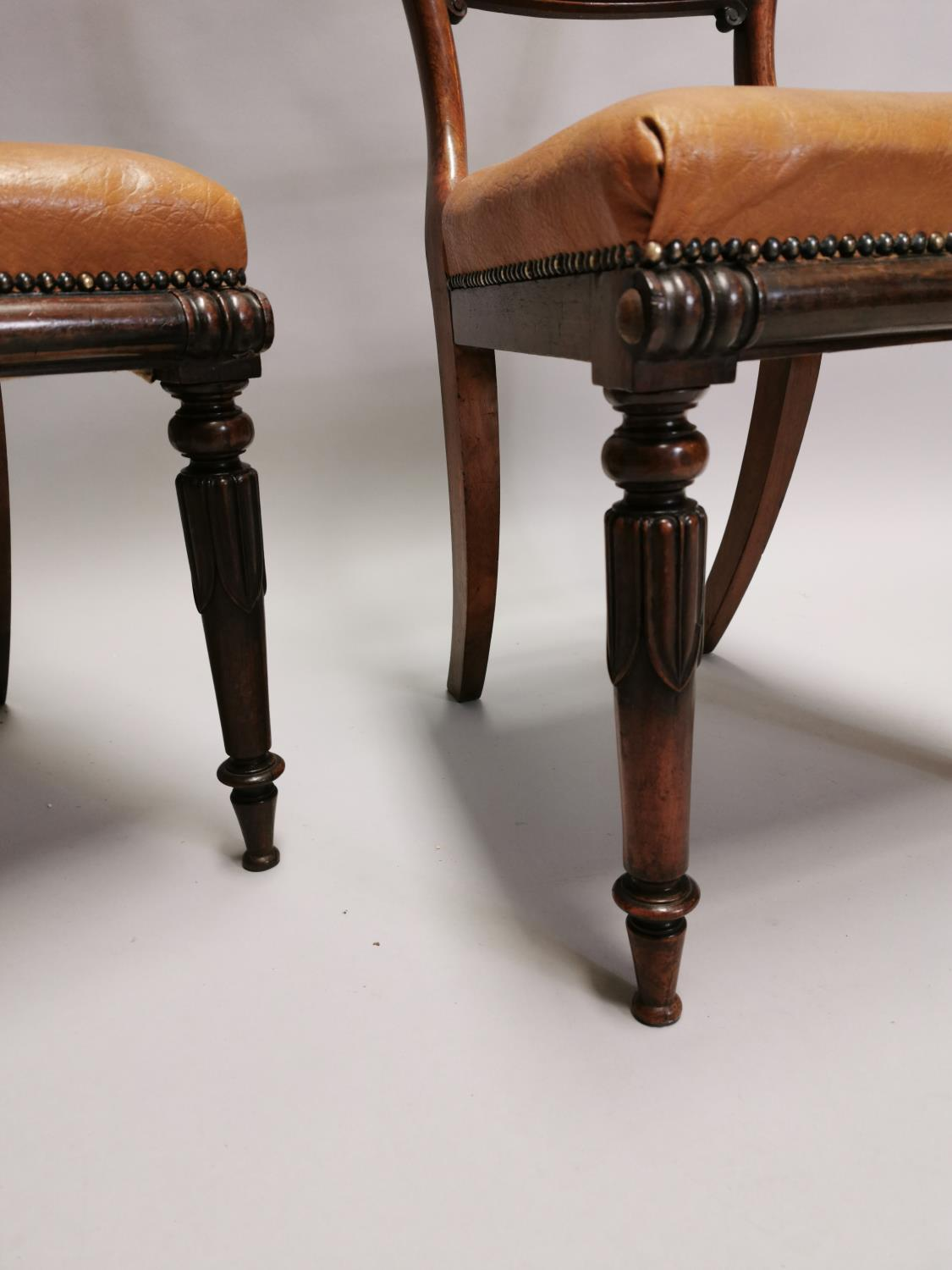 Pair of William IV rosewood side chairs - Image 3 of 7