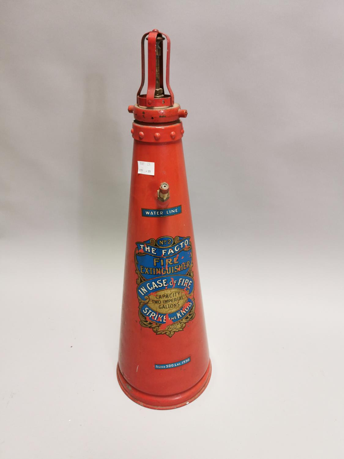 Early 20th. C fire extinguisher