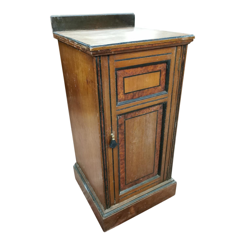 Edwardian mahogany bedside locker,