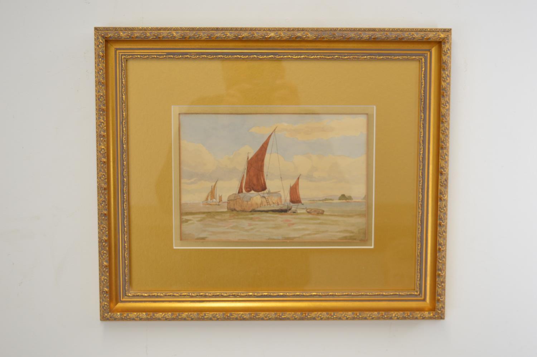 Watercolour Boats at Sea