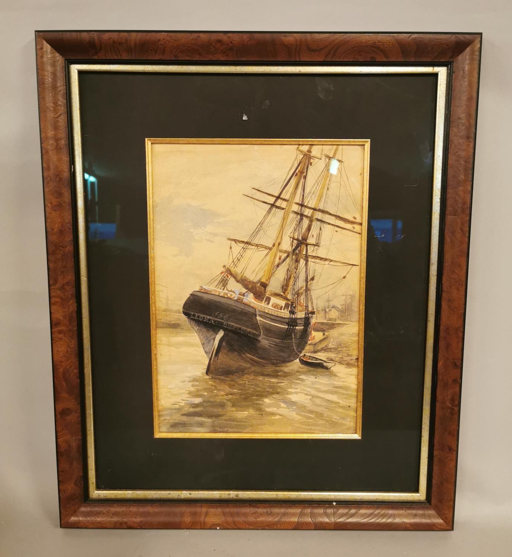 19th C. watercolour Maritime scene