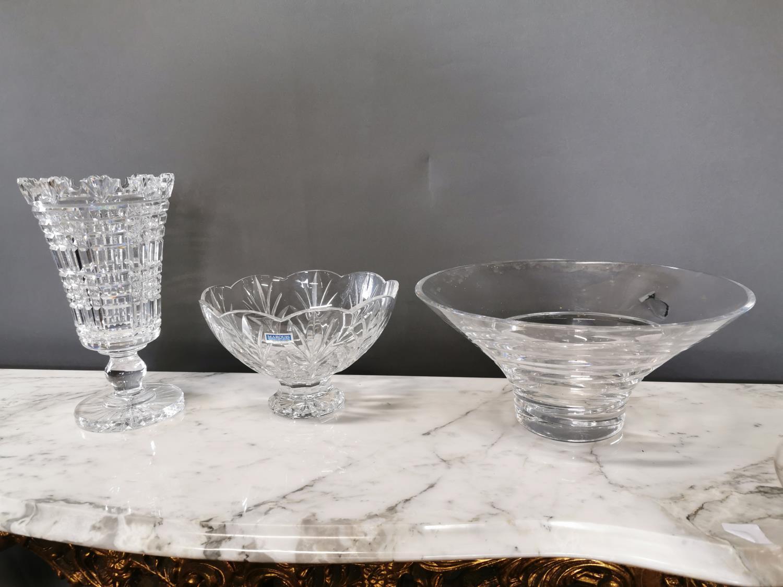 Two Waterford crystal vases