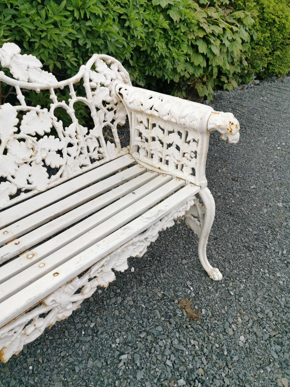 Cast iron garden bench - Image 2 of 5