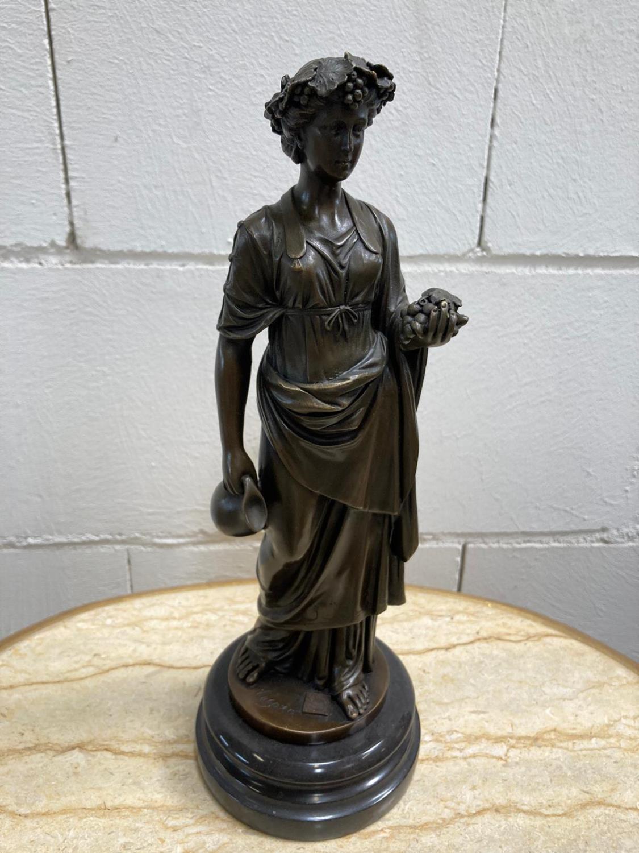 "Bronze Statue - Set of four ""Allegorical Figures"". - Image 7 of 12"