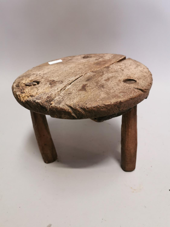 18th. C. pine milking stool