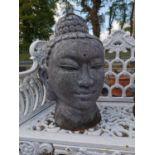 Teracotta Buddha head.