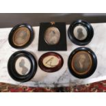 Collection of six miniatures