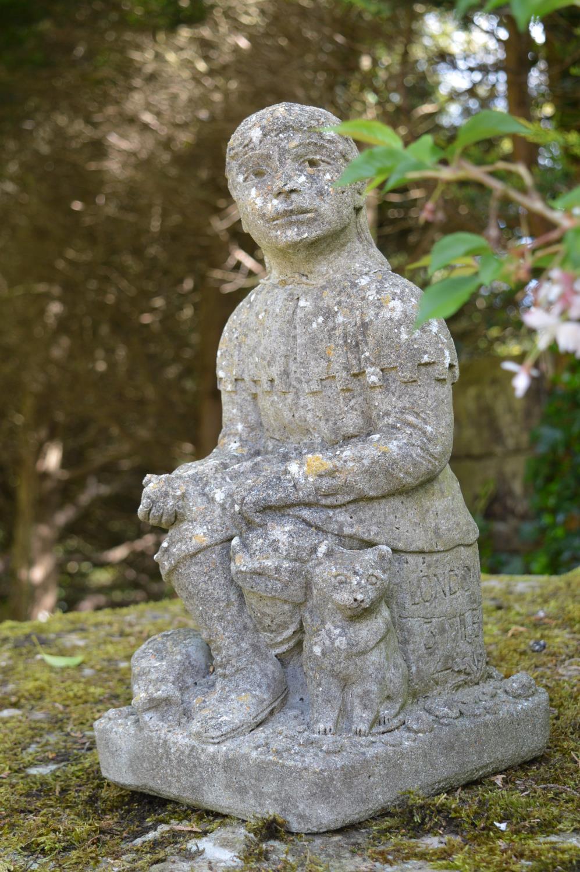 Moulded Stone figure of Dick Whittington