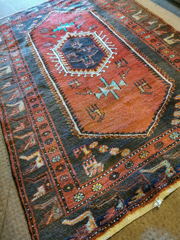 Turkish Yavihibar hand knotted wool runner - Image 3 of 5