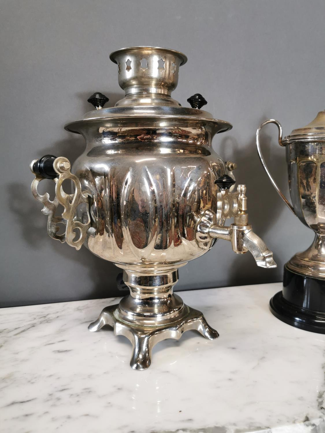 Early 20th. C. silverplated samovar - Image 2 of 3