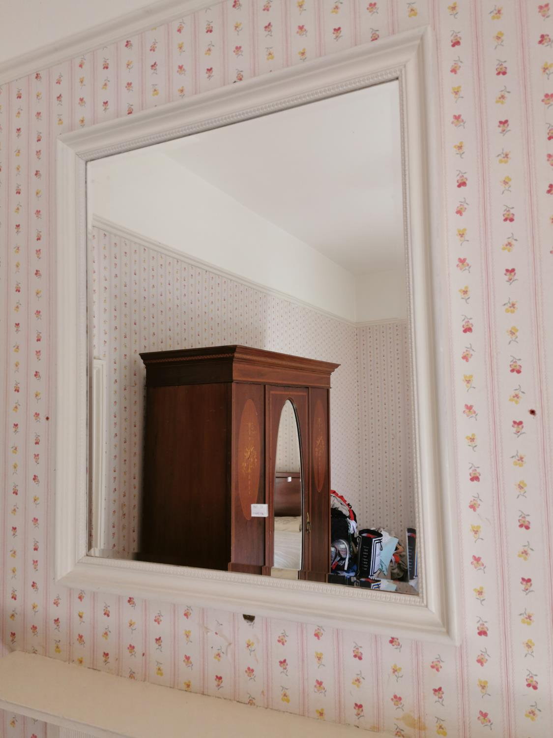 Painted pine wall mirror