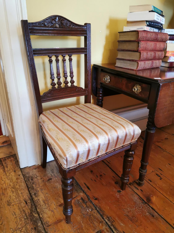 Pair of 19th. C. mahogany chairs - Image 2 of 2