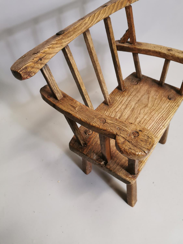 18th. C. Irish ash hedge armchair - Image 5 of 8