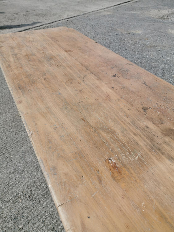 19th C. Irish pine table. - Image 4 of 8