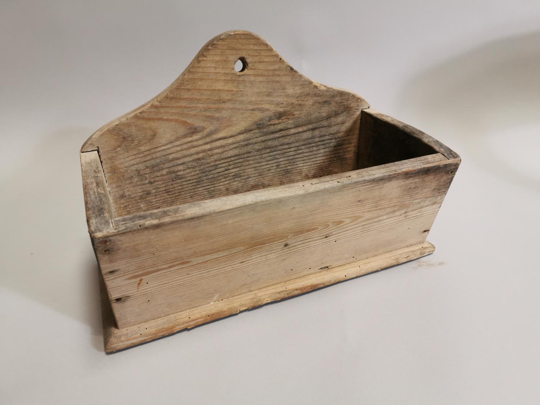 19th. C. Irish pine candle box
