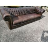 Four seater chesterfield sofa