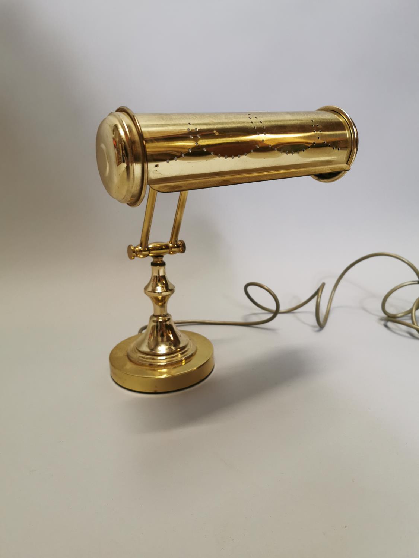 Brass desk lamp. - Image 2 of 5