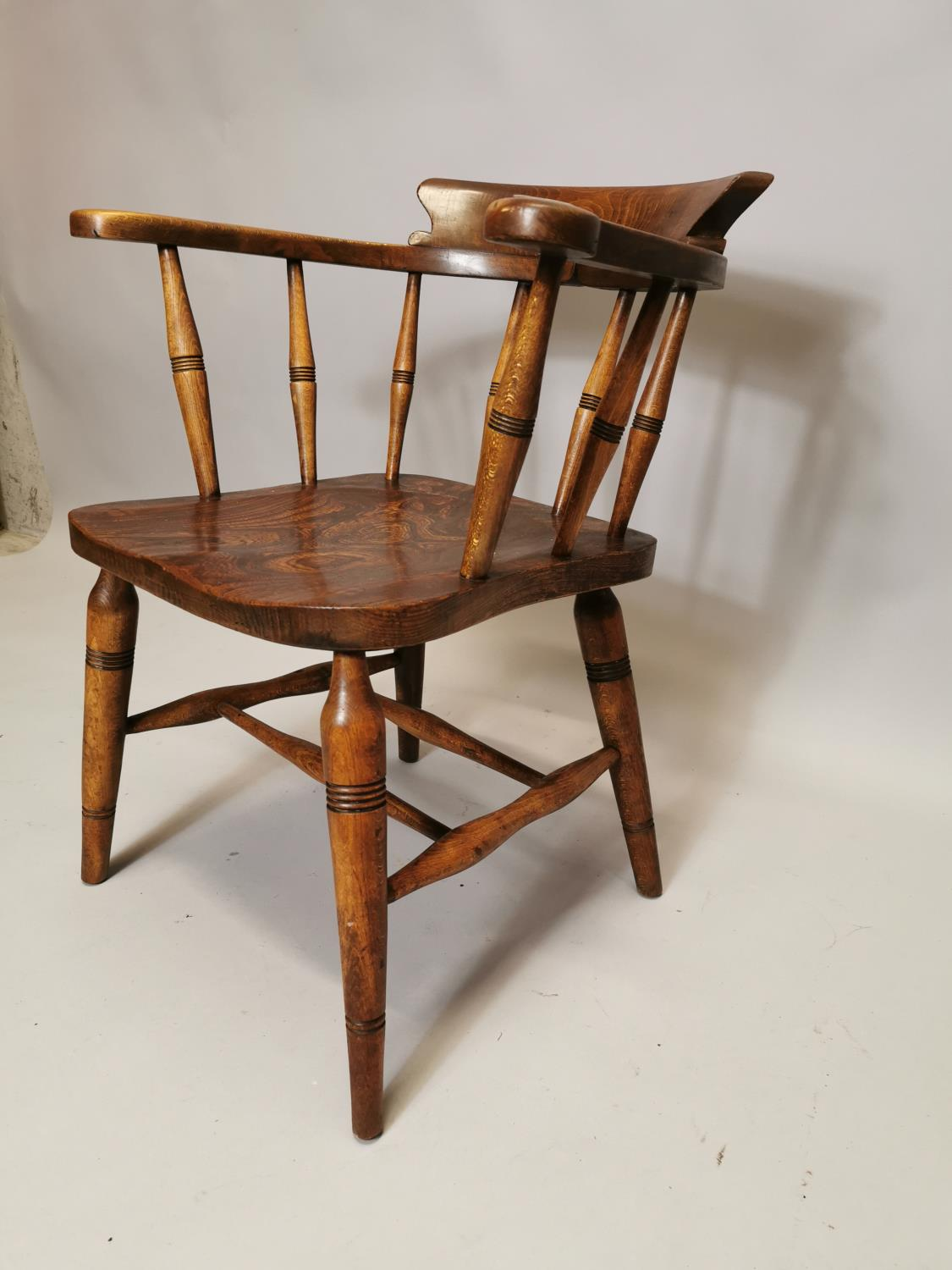 Early 20th C. Ash and elm smoker's bow - Image 4 of 7