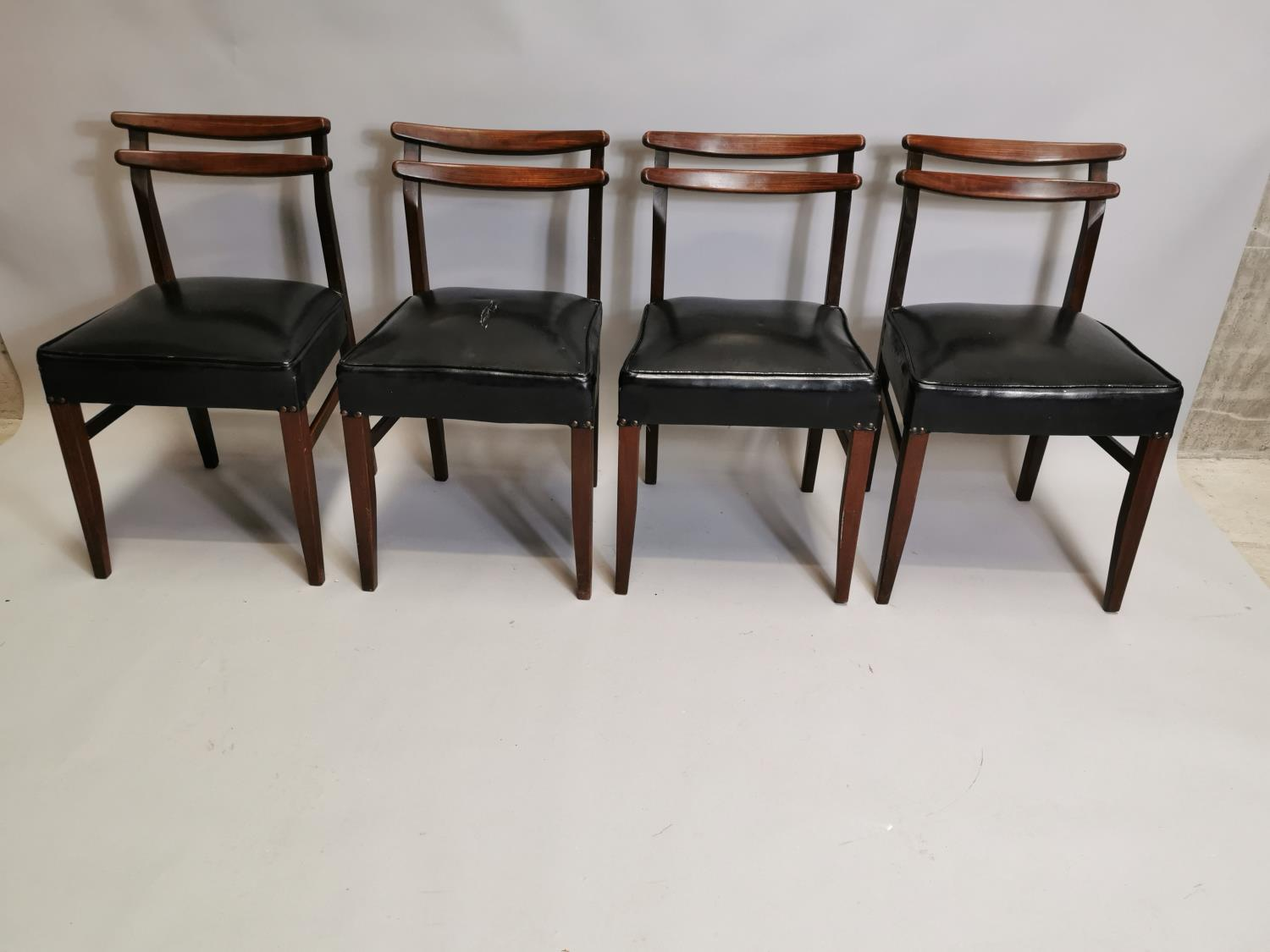 Set of four mid century chairs