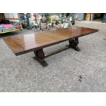 Good quality oak refectory table