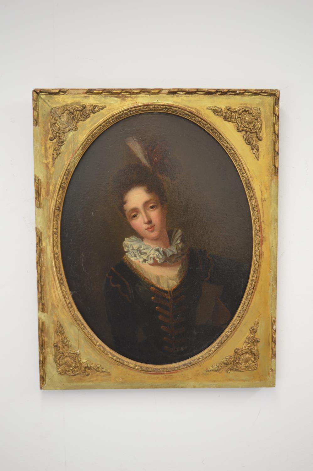 Early 19th. C.oil on board of Young Lady