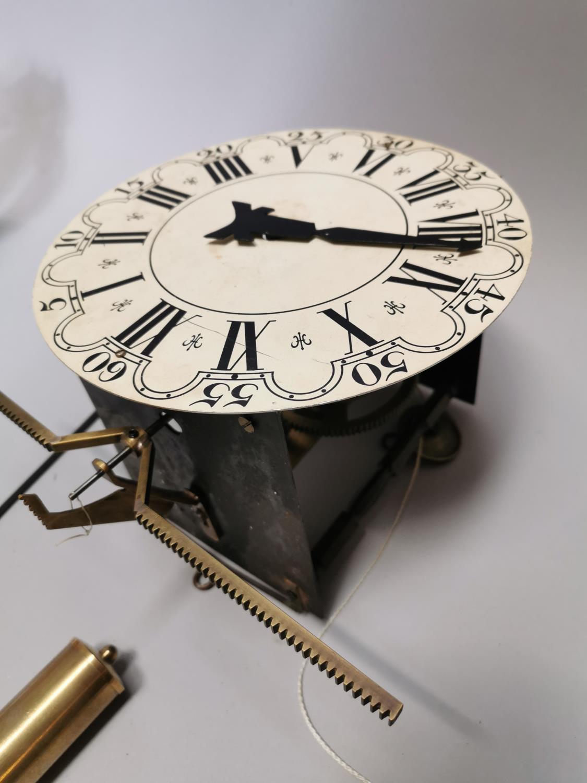 Brass and metal skeleton clock. - Image 3 of 3