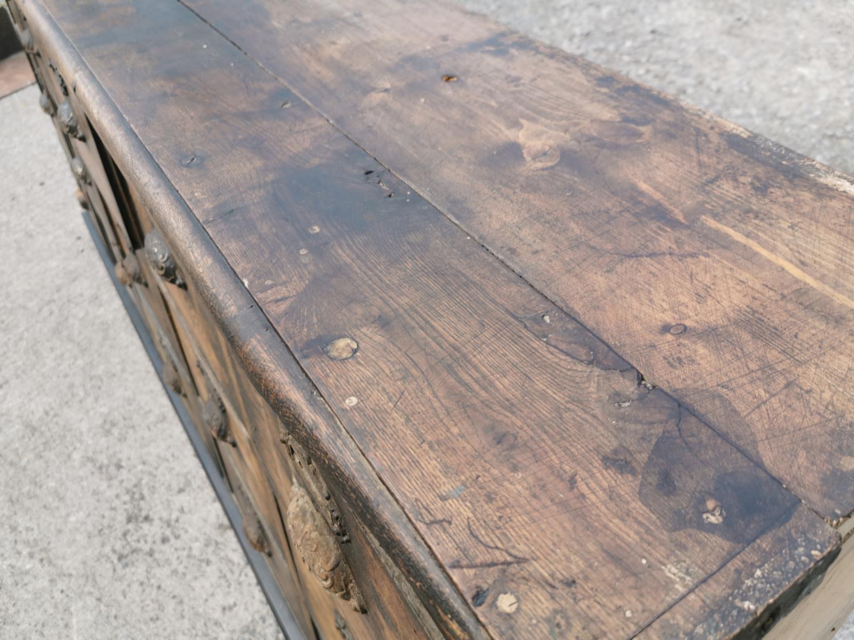 19th C. oak bank of drawers. - Image 4 of 8