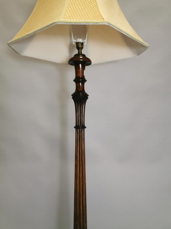 Edwardian mahogany standard lamp - Image 6 of 7