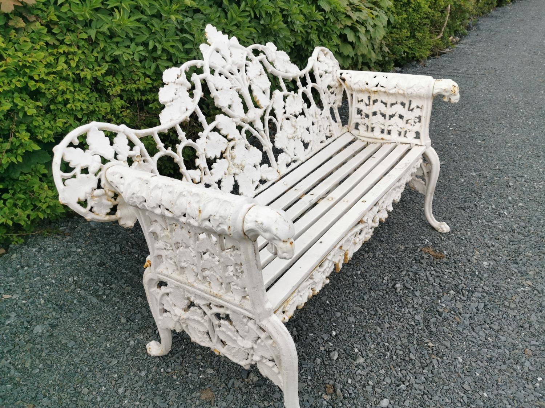 Cast iron garden bench - Image 4 of 5