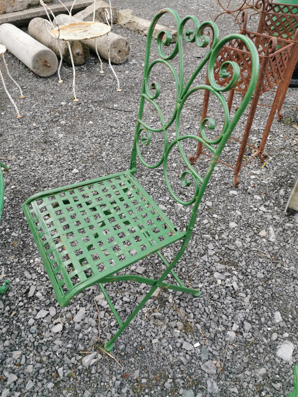 Cast alloy five piece garden set - Image 5 of 5