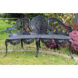 Aluminium garden bench