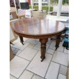 William IV mahogany dining room table
