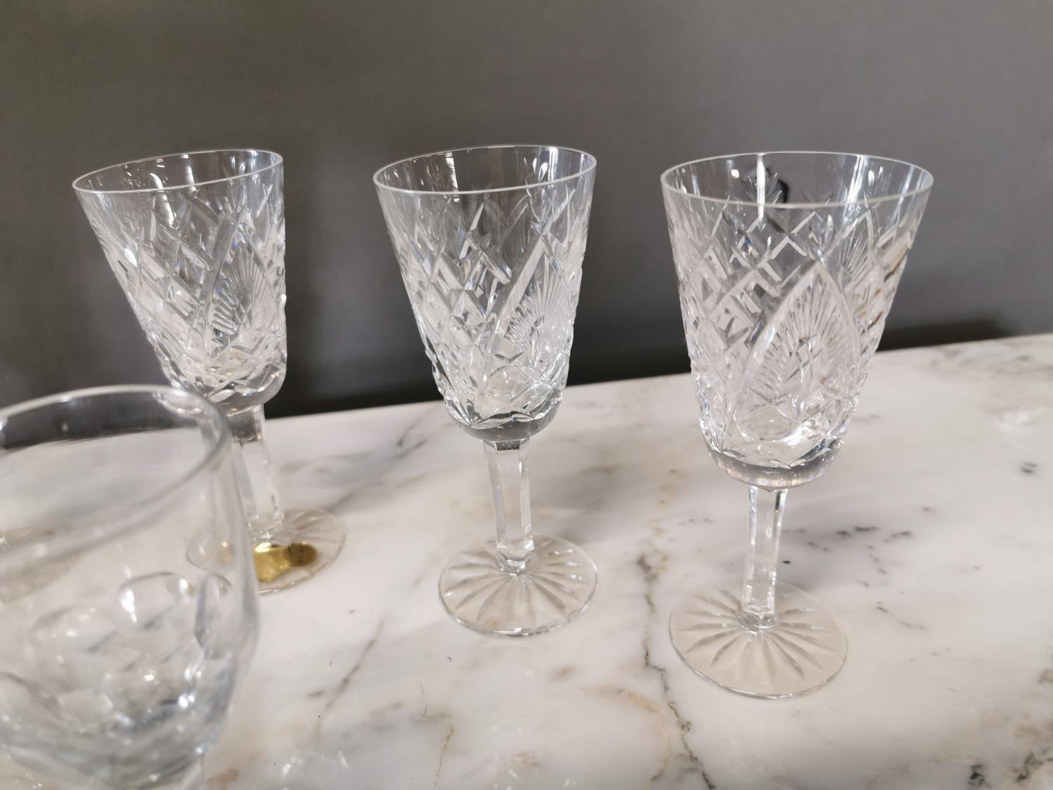 Ten Waterford crystal sherry glasses - Image 3 of 3