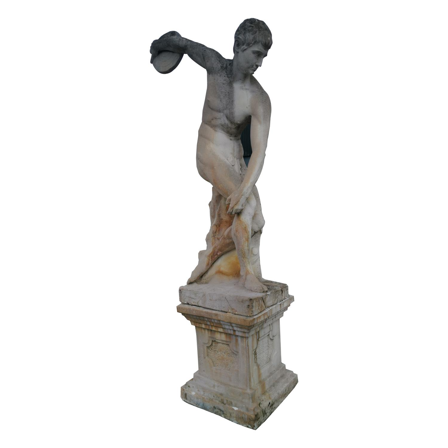 Moulded stone statue of Greek Disc Thrower - Image 2 of 5