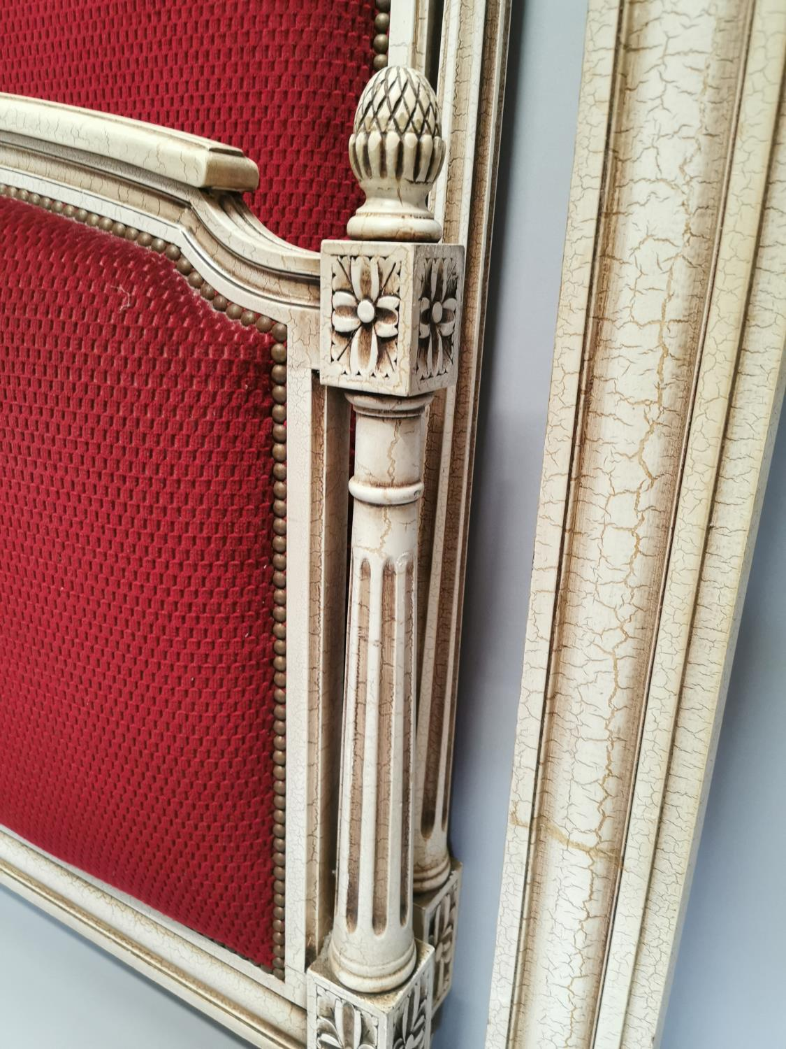 French painted and upholstered bed - Image 2 of 7