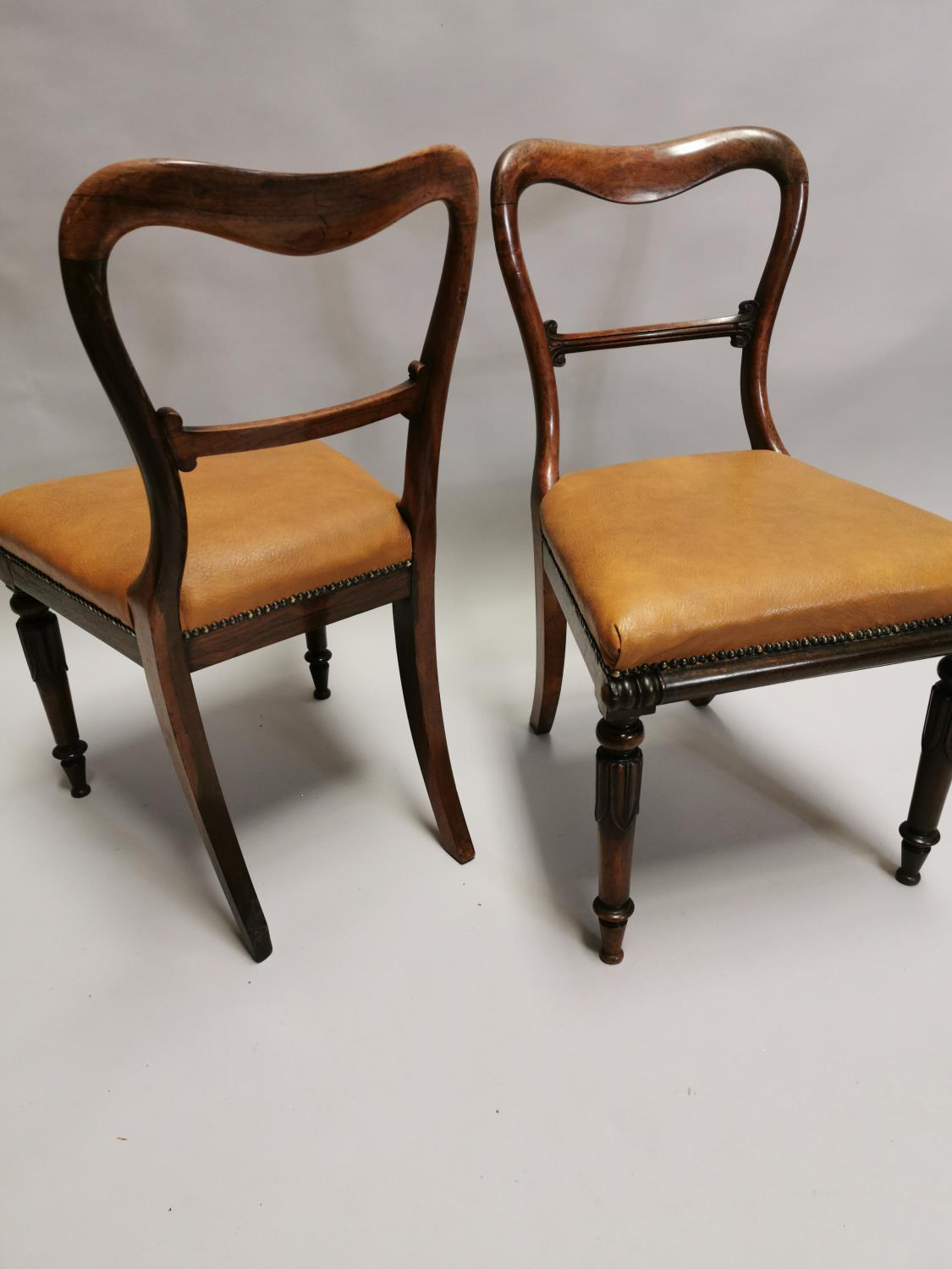 Pair of William IV rosewood side chairs - Image 6 of 7