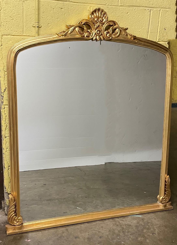 Gilt Victorian Design Overmantle Mirror.