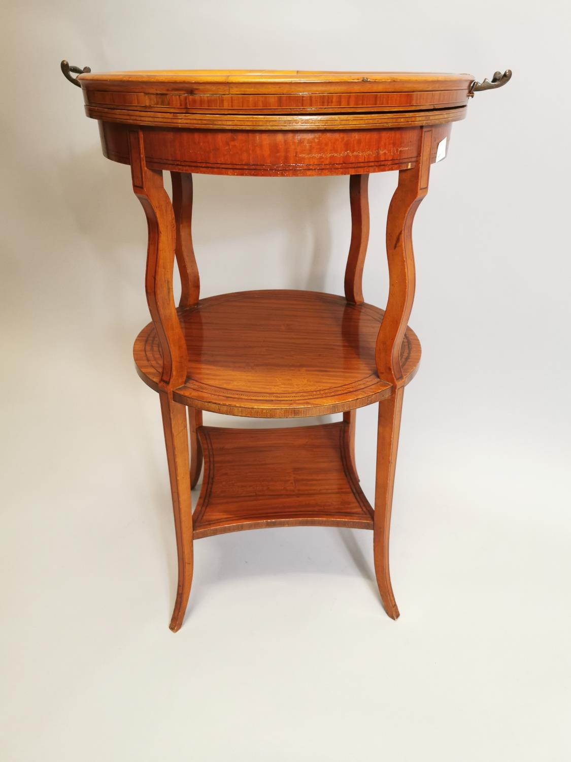 19th. C. satinwood wine table - Image 4 of 5