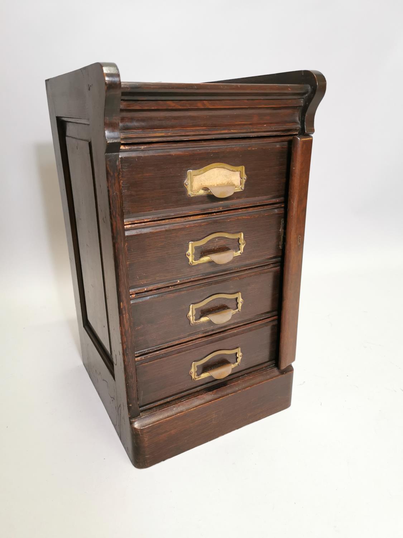 Art Deco oak filing cabinet