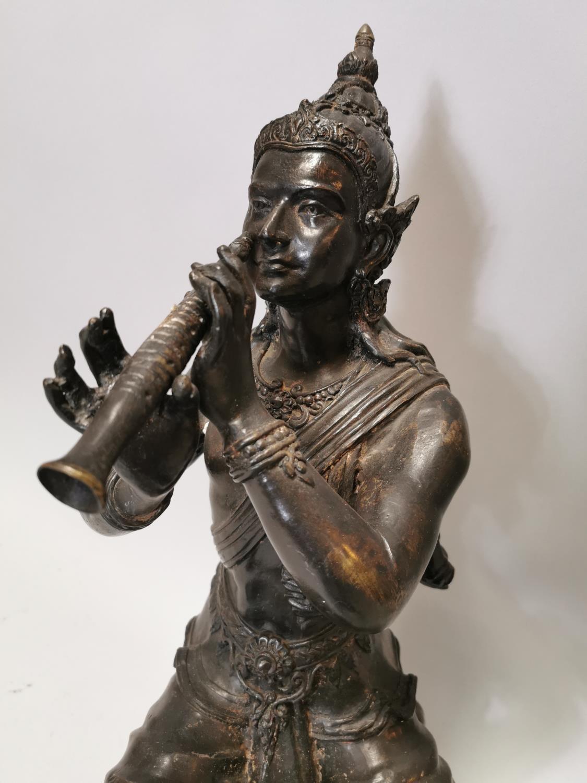 Bronze figure of oriental deity - Image 4 of 7