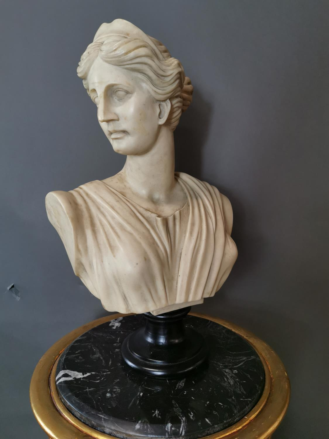 Resin bust of a Grecian Lady