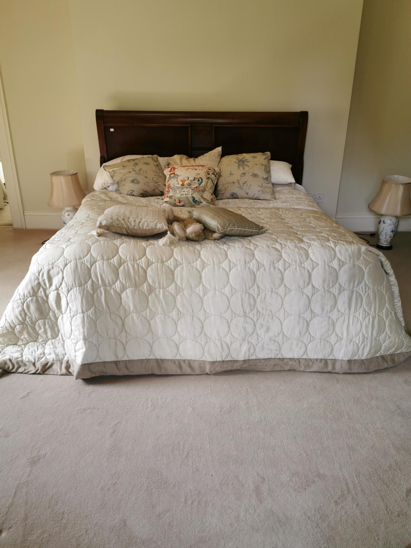 Mahogany sleigh bed head board { 125cm H X 188cm W }.
