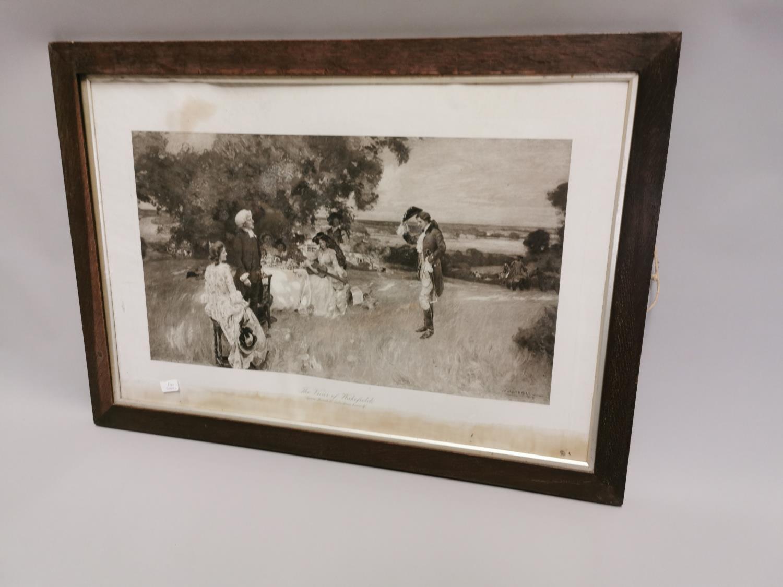 19th. C. black and white print