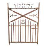 19th. C. wrought iron garden gate