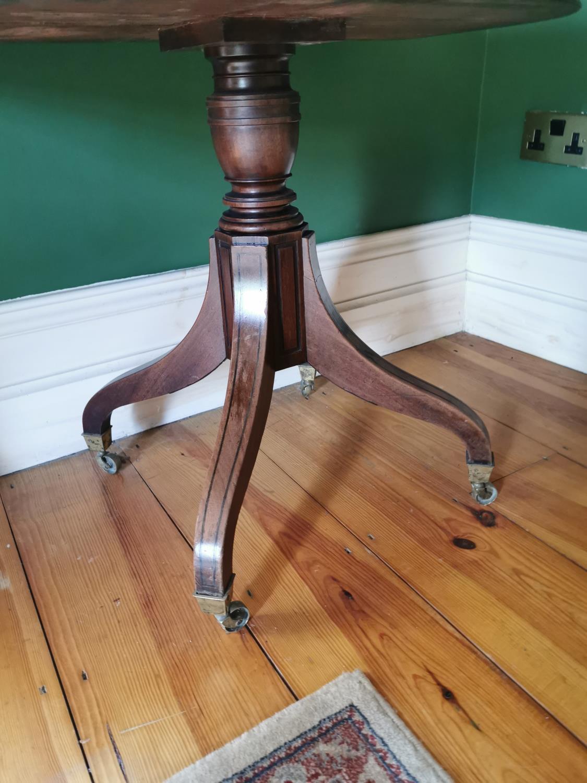 Regency mahogany D- end turn over leaf tea table - Image 3 of 3