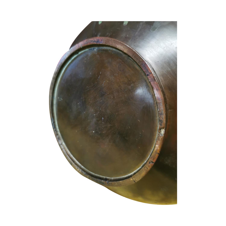 Bronze onion shaped Chinese urn - Image 4 of 4