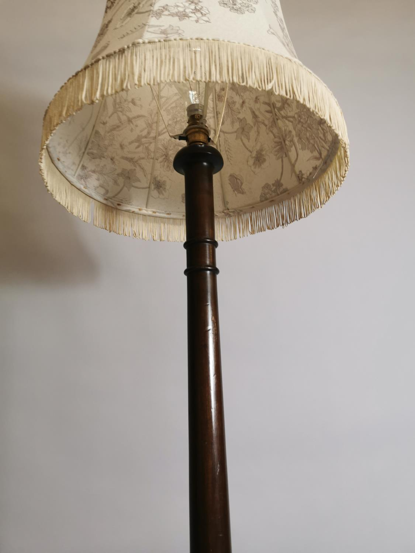 Edwardian mahogany standard lamp - Image 5 of 7