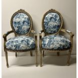 Pair of Toile Chairs