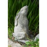 Moulded Stone model of a seated Hare.