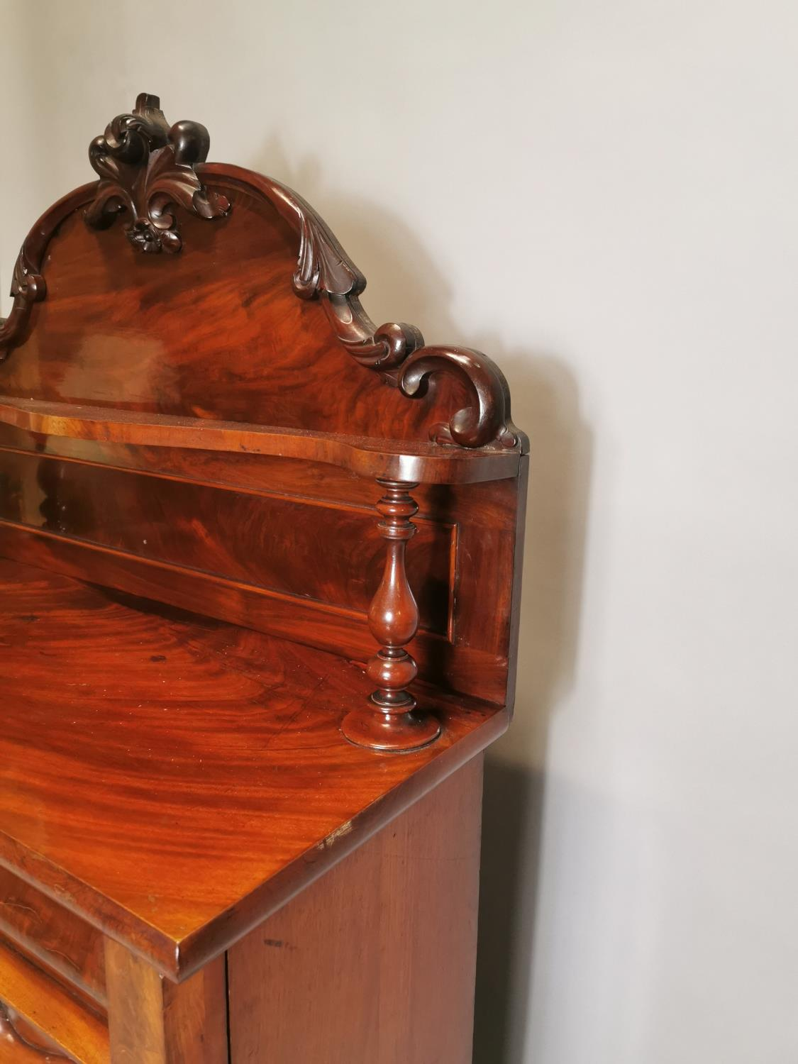 William IV carved mahogany side cabinet - Image 8 of 8